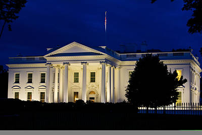 Photograph - White House At Night by John McGraw