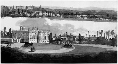 White House, Capitol, 1815 Art Print by Granger
