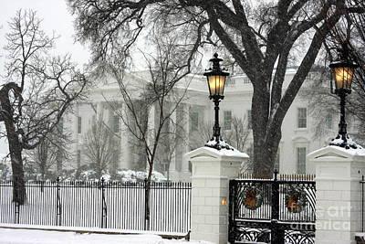 White House Christmas Art Print