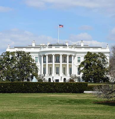 White House In Washington Dc Art Print