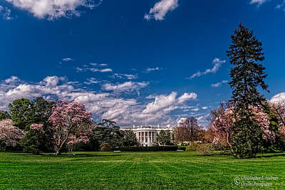 Photograph - White House Lawn In Spring by Christopher Holmes