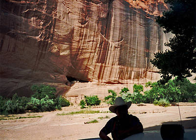 Photograph - White House Ruins Canyon De Chelly 1993 With Guide by Connie Fox