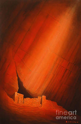 Pictograph Painting - White House Ruins by Jerry McElroy