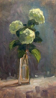 Painting - White Hydrangea Trio by Timon Sloane