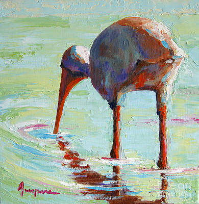 Ibis Painting - White Ibis  Everglades Bird  by Patricia Awapara