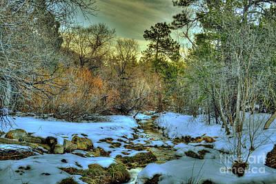 Prescott Digital Art - White Icing Snowy Scene In Prescott Arizona by K D Graves