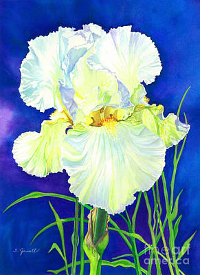Painting - White Iris by Barbara Jewell
