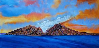 Tangaroa Painting - White Island New Zealand by Faye Dietrich