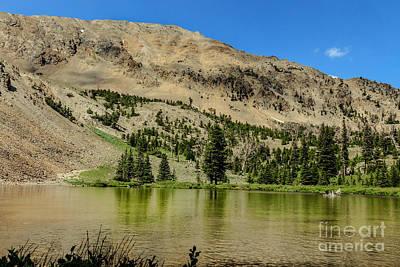 Peaceful Scene Photograph - White Knob Mountain Lake by Robert Bales