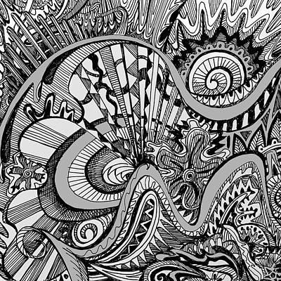 Roller Coaster Mixed Media - White Knuckled Scream by Brenda Erickson