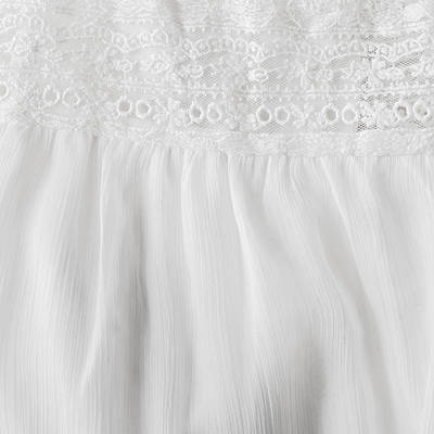 Bead Embroidery Photograph - White Lace And Satin by Tom Gowanlock
