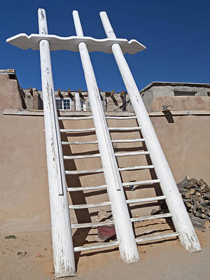 Photograph - White Ladder by Jennifer Nelson