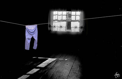 Photograph - White Light On Blue Pants by Wayne King