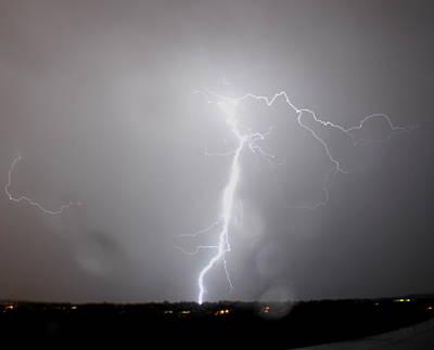 Photograph - White Lightning by Trent Mallett