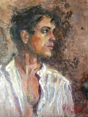Painting - White Linen Shirt by Vicki Ross