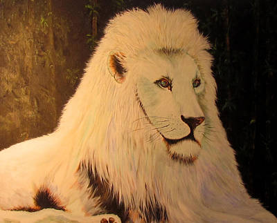 Painting - White Lion by Susan Duxter