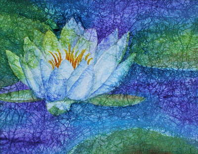 White Lotus Art Print by Mary Pumpelly-Knowland
