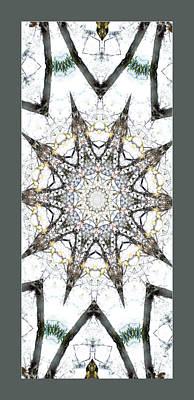 Rowing Royalty Free Images - White Mandala Wall Art Royalty-Free Image by Rosalie Scanlon