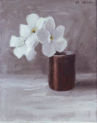 White Art Print by Mary Adam