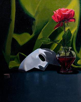 White Mask And Flower Original