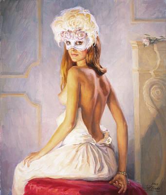 White Mask Art Print