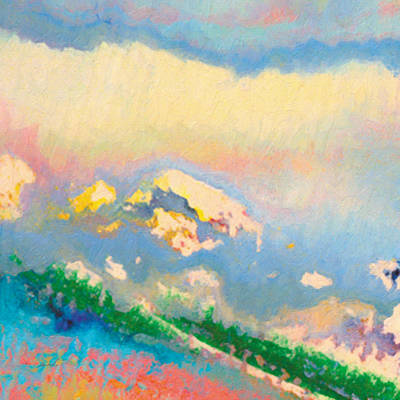 Painting - White Mountain by The Art of Marsha Charlebois