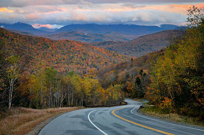 White Mountain Roads - New Hampshire Art Print by Thomas Schoeller