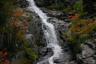 White Mountain Water Fall  Art Print by Denyse Duhaime