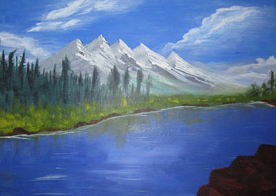 Painting - White Mountains by Haleema Nuredeen