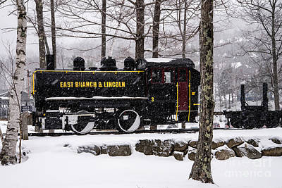 Photograph - White Mountains Railroad And Train by Glenn Gordon