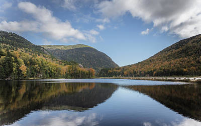 New Hampshire Fall Photograph - White Mountains Reflection by Chris Fletcher