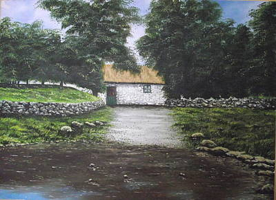 Morn Painting - White O' Morn Cottage by Robert Gary Chestnutt