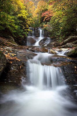 Parkway Photograph - White Oak Falls by Tommy  White