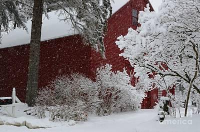 White On Red Art Print