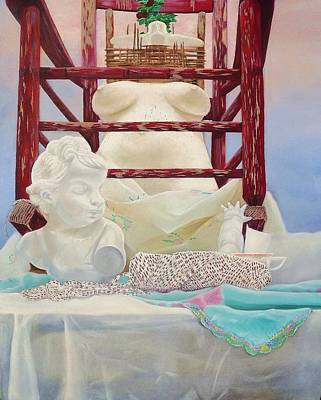 Beth Dennis Painting - White On White  by Beth Dennis