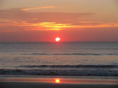Photograph - White Orb Sunrise by Ellen Meakin