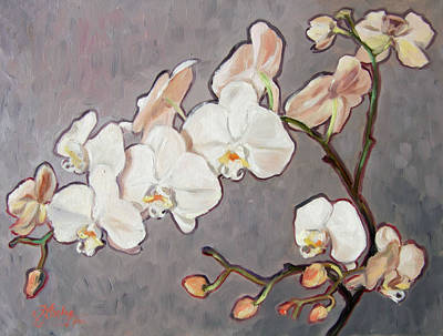 Flower Painting - White Orchid by Irek Szelag