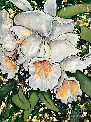 Painting - White Orchids by Cynthia Parsons
