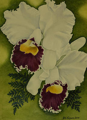 Painting - White Orchids by DK Nagano