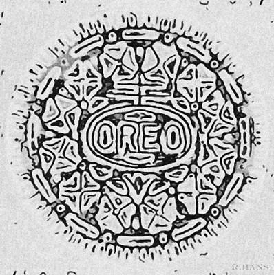 White Oreo Art Print by Rob Hans
