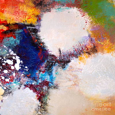 Streetlight Mixed Media - White Out by Lisa Schafer