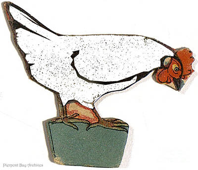 White Paper Chicken  Print by Pierpont Bay Archives