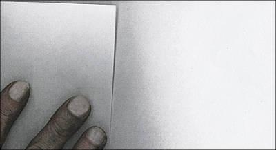 White Paper Dirty Fingers Art Print by Bob RL Evans