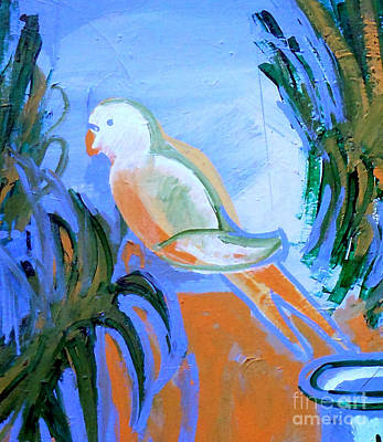 Painting - White Parakeet by Genevieve Esson
