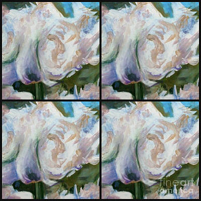 Painting - White Parrot Tulip Quad by Diane montana Jansson