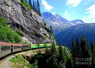 White Pass And Yukon Route Railway In Canada Art Print
