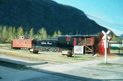 Polaroid Camera - White Pass Railroad by Tracy Winter
