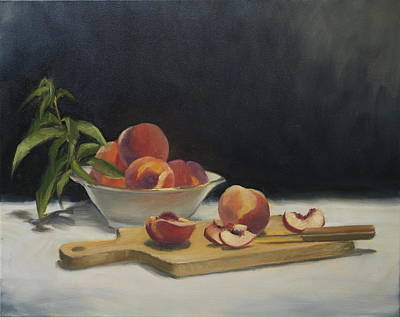 Painting - White Peaches by Roger Clark