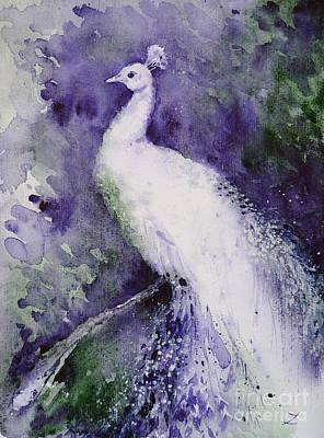 Painting - White Peacock by Zaira Dzhaubaeva