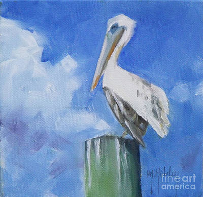 White Pelican Original by Mary Hubley